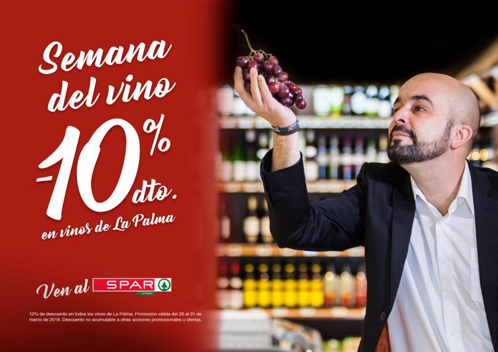 Semana del Vino Palmero en los supermercados Spar La Palma. Colaboración del Restaurante el Canal